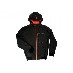 FOX SOFTSHELL HOODY BLACK ORANGE