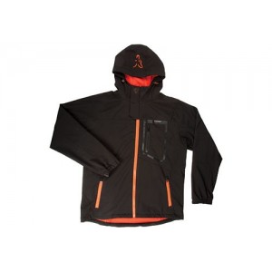 FOX SOFTSHELL JACKET BLACK ORANGE