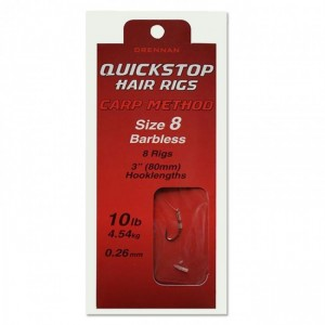 DRENNAN CARP METHOD QUICKSTOP HAIR RIGS