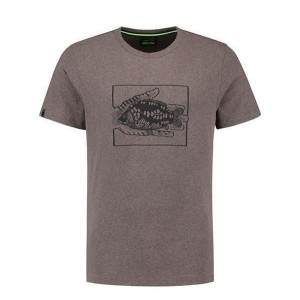 KORDA CARP IN HAND TEE HEATHER