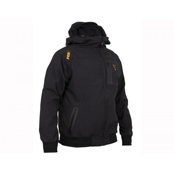 FOX COLLECTION 2019 BLACK ORANGE SHELL HOODY